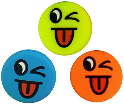 3 Smiley Vibrationsdämpfer Emoji Funny Tongue