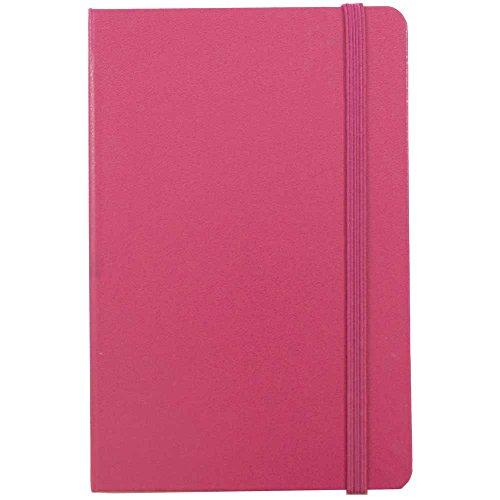 Jam Papier® Zeitschriften-Hardcover gefüttert Notebooks mit Elastic Band Schließung Travel Size/Small Pink Berry Berry Band