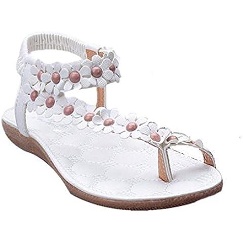 Ularma 2016 Moda Bohemia verano dulce dulce de la mujer moldeado zapatos sandalias Clip pies sandalias playa
