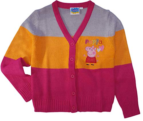 Peppa Wutz Pig Kinder Sweatjacke Strick-Jacke, Größe:110-116 (5/6 A)