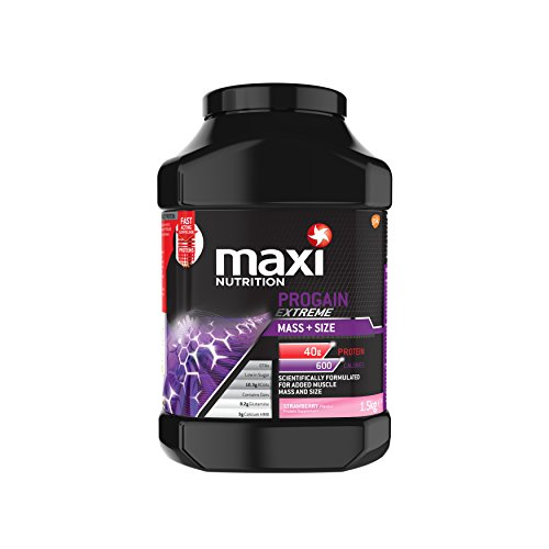 MaxiNutrition Progain Extreme Mass and Size Protein Shake Powder, 1.5 kg - Strawberry Test