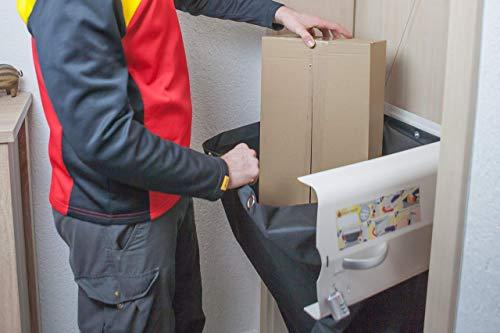 meinPAKETSACK Safety - die sichere Paketstation für Zuhause, Paketbox für alle Paketdienste zur Annahme von Paketen in Miet- und Eigentumswohnungen, universelle Montage & platzsparend - 11