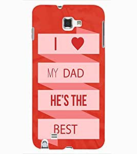 ColourCraft Quote Design Back Case Cover for SAMSUNG GALAXY NOTE 1