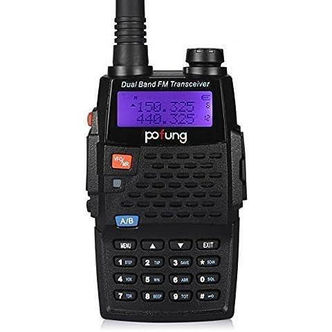 Baofeng Pofung BF-F9 + TP radio de dos vías Tri-Power 1/4/8W, UHF/VHF 136-174/400-520MHz Dual-Band FM de dos vías de
