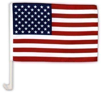 Autofahne Autoflagge USA 30 x 45 cm (Us-fußball-wm)