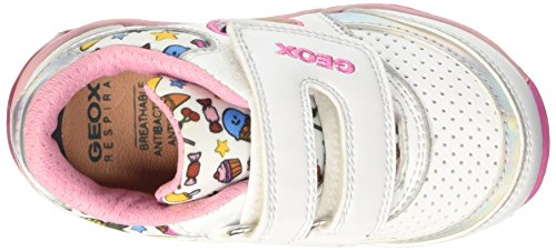 Geox B Todo Girl D, Scarpe Walking Baby Bambina Multicolore (White/Multicolor)