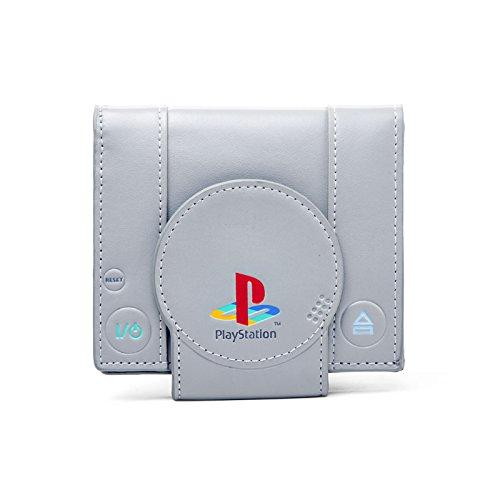 Preisvergleich Produktbild Sony PlayStation Portemonnaie Geldbeutel Geldbörse Brieftasche PS1 Shape (Grau)