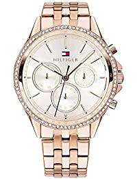 7bfd29d97f2799 Tommy Hilfiger Womens Multi dial Quartz Watch with Rose Gold Strap 1781978