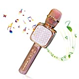 Microphone Sans Fil Karaoké, Portable Karaoké Microphone avec 2 Haut-Parleur...