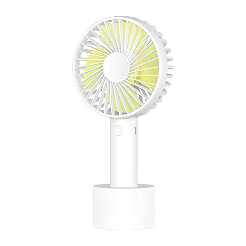 OME&QIUMEI Small Fan Usb Mute Small Fan Office Students Handheld Can Be Recharged White