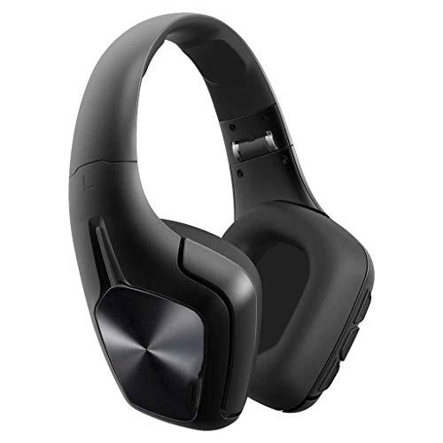 Bluetooth-Headset mit Geräuschunterdrückung Faltbares Bluetooth-Headset für den Kopf, Stereo-Faltendes drahtloses Sport-Musik-Headset, Protein-Ohrenschützer, Subwoofer-TF-Karten-Radio All-In-One-kabel