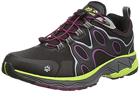 Jack Wolfskin PASSION TRAIL TEXAPORE LOW W, Damen Outdoor Fitnessschuhe, Schwarz (wild berry 1014), 39 EU (5.5 Damen UK)