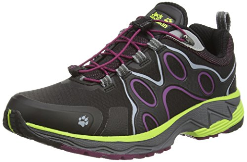 Jack Wolfskin PASSION TRAIL TEXAPORE LOW W, Damen Outdoor Fitnessschuhe, Schwarz (wild berry 1014), 39.5 EU (6 Damen UK)