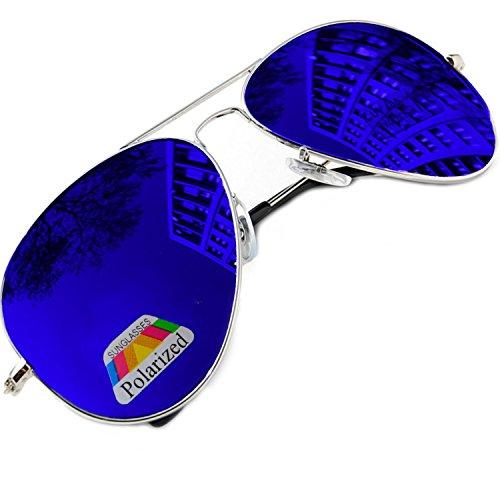 Damen Herren polarisierten polarized  Sonnenbrille Pilot-Stil Brille SUNGLASSES UV400 Protection MFAZ Morefaz Ltd