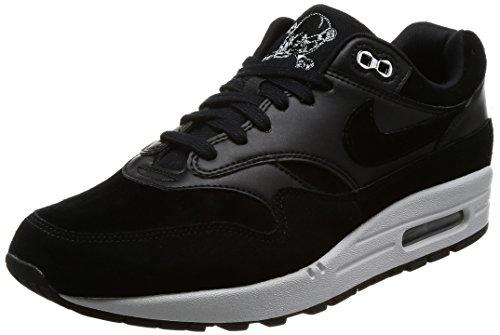Nike Herren Air Max 1 Premium Gymnastikschuhe, Schwarz (Black/Chrome/Off White), 43 EU (1 Max Usa Air)