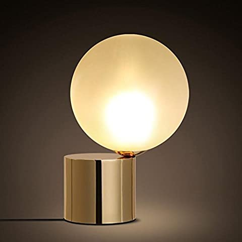 GBT simple Creative lampe LED en verre sphérique Abat-jour Étude chaud Chambre à coucher lampe de chevet? Lampes LED, lumière chaude, éclairage Blanc, lustres, Lampes de lumières d'intérieur, extérieur, Lampes de mur?
