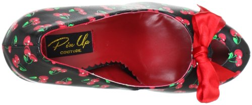 Pleaser EU-CUTIEPIE-06 CUTIE06/B-RPU, Scarpe col tacco donna Nero (Schwarz (Blk-red pu (cherries print)))