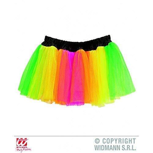 Für Kostüm Erwachsene Unterrock - Lively Moments Neon Tütü / Tutu / Tüllrock / Unterrock Multicolor für Erwachsene / Kostüm Zubehör Einhorn / 80er Jahre Disco
