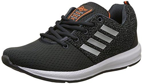 Lancer Men's Grey,Orange Running Shoes - 7 UK/India (41 EU)(INDUS-12DGR-ORG-7)