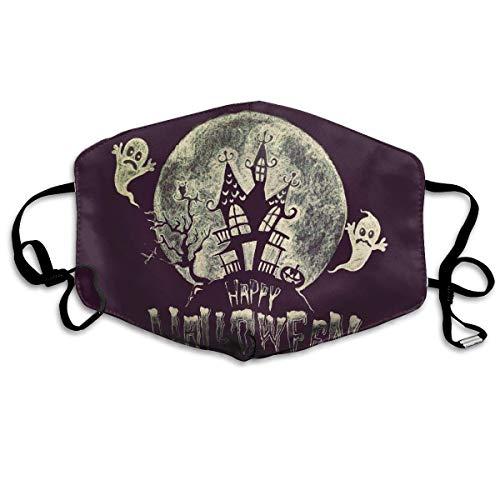 Vbnbvn Unisex Mundmaske,Wiederverwendbar Anti Staub Schutzhülle,Gesichtsmaske Happy Halloween Anti Pollution Washable Reusable Mouth Masks for Man Woman