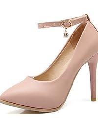 ZQ Zapatos de mujer-Tac¨®n Cu?a-Cu?as / Punta Redonda-Tacones-Oficina y Trabajo / Casual-PU-Negro / Rosa / Rojo / Blanco , pink-us10.5 / eu42 / uk8.5 / cn43 , pink-us10.5 / eu42 / uk8.5 / cn43