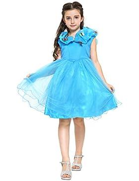 Mädchen blaue Cinderella Kleider in verschiedenen Designs mit Zubehör