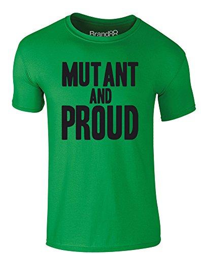 Brand88 - Mutant and Proud, Erwachsene Gedrucktes T-Shirt Grün/Schwarz