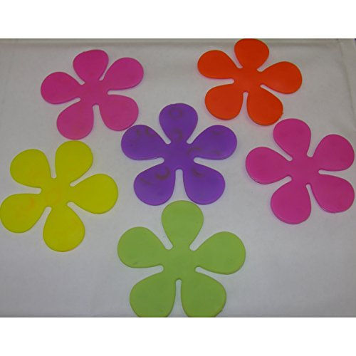 6non-slip-flower-power-suction-pad-stopper-for-bath-and-shower-colourful-flowers-retro
