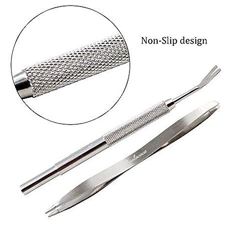 Yolococa Tick Remover Tool Set - Removes Ticks and Fleas Easily. Avoids Nasty Plastics and Pesticides
