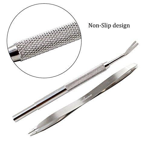 Yolococa Tick Remover Tool Set-rimuove zecche e pulci Facilmente. Evita Nasty plastiche e pesticidi