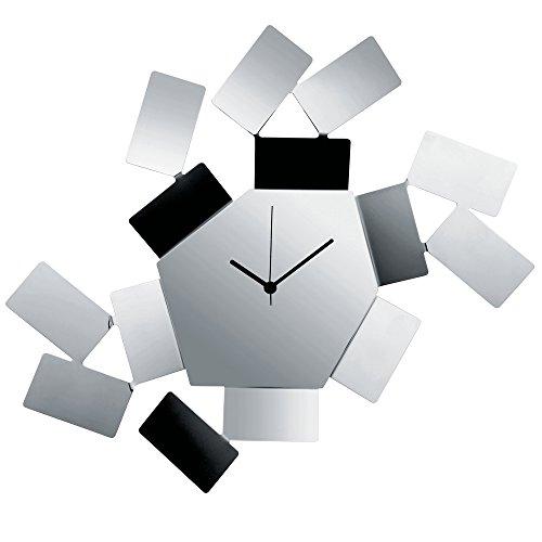 Alessi mt19 la stanza dello scirocco orologio da parete in acciaio colorato con resina epossidica, argento