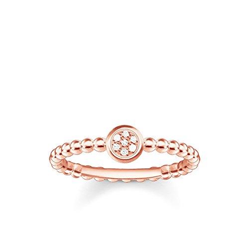 Thomas Sabo Damen-Ring Glam & Soul 925 Sterling Silber 750 rosegold vergoldet Diamant Pavè weiß Gr. 52 (16.6) D_TR0004-923-14-52