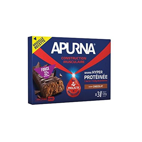 APURNA Barre hyperprotéinée Chocolat - Etui 3x40g