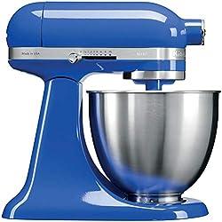 KitchenAid 5KSM3311XETB Mini robot pâtissier multifonction de 3,3 L - Bleu Saphir, 250 W