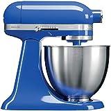 KitchenAid Mini - Robot de cocina (3,3 L, Azul, palanca, 200 RPM, 1,219 m, CC)