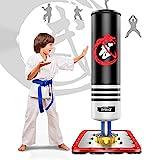 Dripex Boxsack Kinder Freistehender Standboxsack MMA Boxpartner Boxing Trainer Heavy Duty Boxsack mit Saugfuß, mehrere Farbe (120cm/47 Schwarz)