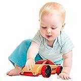 Giocattolo per Auto Assemblaggio in Legno,Tirare e Spingere Giocattolo, Veicolo Rimovibile Creativo,Set di Giocattoli in Legno Staccabile,Regalo Giocattolo Educativo per Bambini (Auto da Corsa)