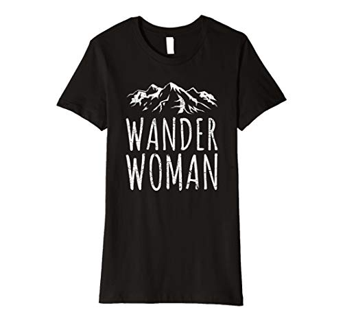 Damen WANDER WOMAN Shirt | Mountain Trekking Outdoor Sprüche Retro