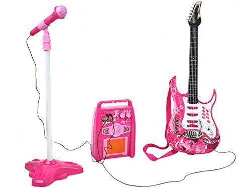 Rockgitarre Mikrofon Stativ Verstärker Kinder gitarre SET #4709