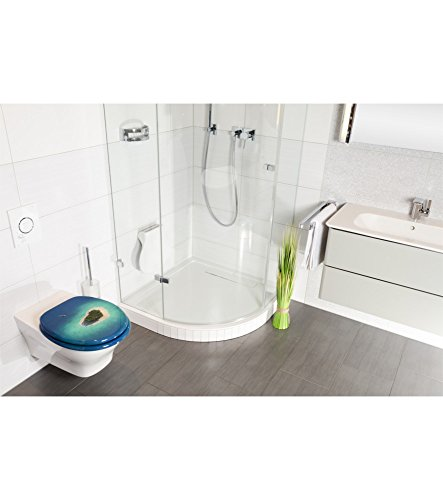 WC Sitz mit Absenkautomatik, viele schöne WC Sitze zur Auswahl, hochwertige und stabile Qualität aus Holz (Dream Island) - 7