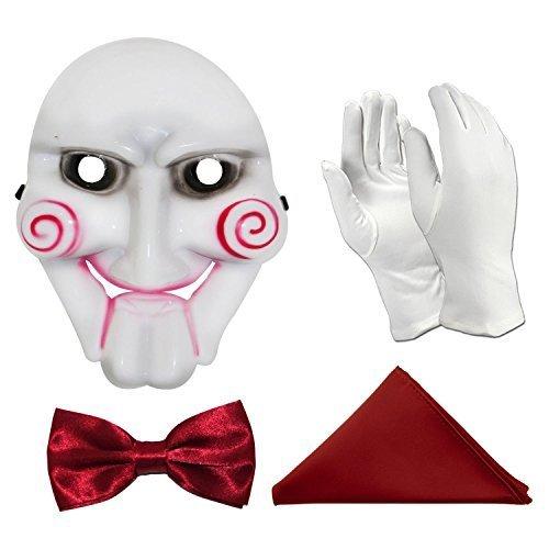 Schwert Movie Handpuppe Kostüm-Zubehör (Maske, Fliege, Einstecktuch & - Movie Uk Halloween-kostüme Horror