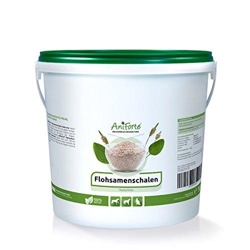 AniForte Flohsamenschalen Ganz 1 kg für Pferde, Hunde und Katzen, Reich an Ballaststoffen und Schleimstoffen, Indische Rohkost Qualität