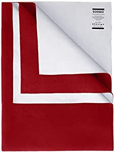 Amazon Brand - Solimo Baby Water Resistant Dry Sheet Medium 100cm x 70cm, Red
