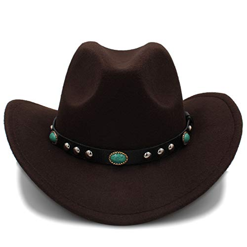 Fang-hats shop, Damen Hut, Cowboyhut, Jazzhut, Cowboyhut, für Damen, Party, Kostüme, Cowgirl-Hut, Coffee, - Bowler Hut Frauen Kostüm
