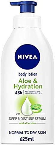 NIVEA Aloe & Hydration Body Lotion, Aloe Vera, Normal to Dry Skin, 6