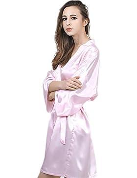 CHUNHUA imitazione manica di seta camicia da notte di seta nobile pigiama tuta , pink , l