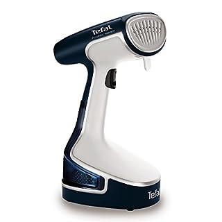 Tefal DR8085 Access Steam Handheld Garment Steamer, Travel/Portable, 1500 Watt, White/Blue