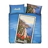 Bassetti Bettwäsche Bettbezug Eine 1Platz und Halb 1,5Doppelbett Imagine Souvenir 100% Baumwolle Amalfi in