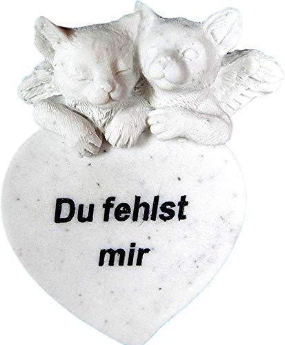 Gedenkstein Katze 'Du fehlst mir'