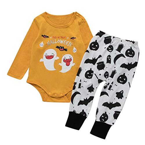 Oyedens (0-24M) Kleinkind Baby Kinder Mädchen Jungen Halloween Kleidung Strampler Body + Hosen Outfits Set Halloween Kostüm